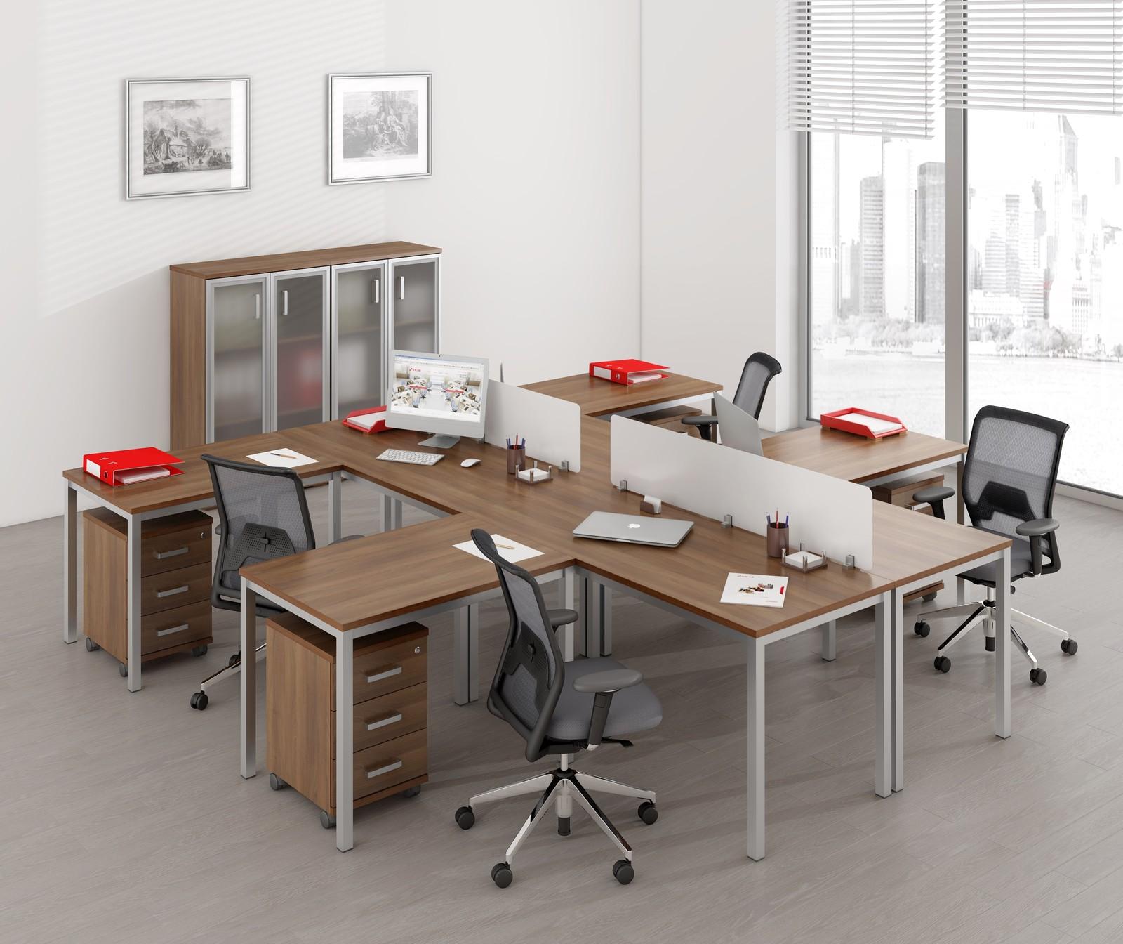 Офисный стол рабочий без экрана 6м.004 - купить в алмате, це.